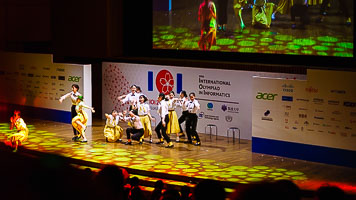 Dancers at the IOI 2018 Japan opening ceremony