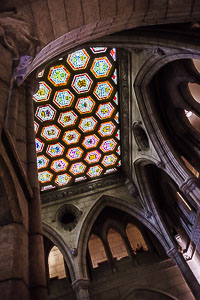 Stained-glass ceiling of Parliament building, Ottawa